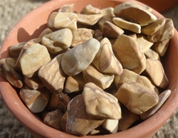 Large Bag Bean Pebble-Wood Stone 3lbs